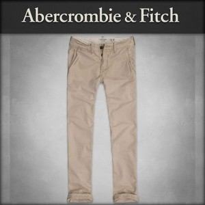 【15%OFFセール 4/21 10:00~4/24 09:59】 アバクロ Abercrombie&Fitch 正規品 メンズ チノパン A&F SLIM STRAIGHT CHINOS 130...