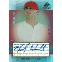 マーク・ウォーレル MLBカード Mark Worrell 2004 SP Prospects Autograph Bonus 383/400