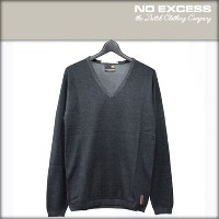 【25%OFFセール 3/24 20:00~3/29 1:59】 ノーエクセス NO EXCESS 正規販売店 メンズ Vネックセーター V-Neck Plated Sweater