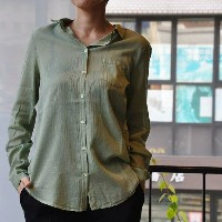 forte_forte(フォルテフォルテ) / my shirt cotton silk voile buttoned down shirt