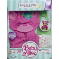 Baby Alive ベビーアライブ 赤ちゃん 人形 フィギュア ドール Cute 'N Comfy Hoodie Set for Baby Alive Sip 'N Slurp and Wets ...