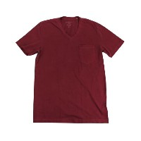【インポート】【即納】V-Neck Pocket S/S Tee  burgundy