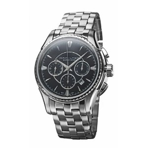 ハミルトン カーキ メンズ 腕時計 Hamilton Men's H34656131 Khaki Riva Automatic Black Stainless Steel Watch