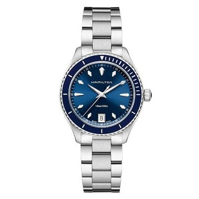 ハミルトン ジャズマスター レディース 腕時計 Hamilton Jazzmaster Seaview Blue Dial Stainless Steel Ladies Watch H37451141