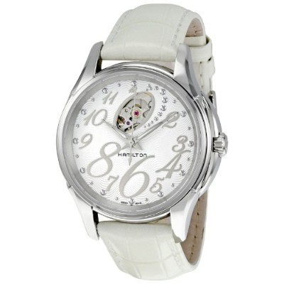 ハミルトン ジャズマスター レディース 腕時計 Hamilton Women's H32465953 Jazzmaster White with Skeleton Display Dial Watch