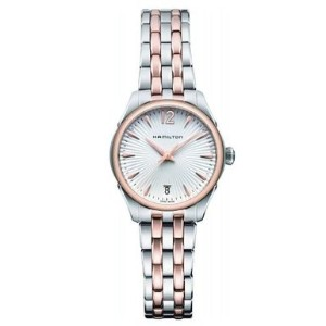 ハミルトン ジャズマスター レディース 腕時計 Hamilton Jazzmaster Lady Quartz Rose Gold PVD and Steel Ladies Watch...