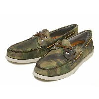【SPERRY TOP-SIDER】 スペリー トップサイダー A/O 2-EYE CAMO LEATHER オーセンティックオリジナル 2アイレット カモ レザー STS10983 BEIGE...