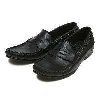 【GENTILE】 デッキ ローファー DECK LOAFER GE2016 F14 BLACK