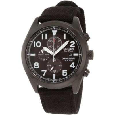 Citizen シチズン メンズ 腕時計 Men's CA0255-01E Sport Eco-Drive Chronograph Strap Watch