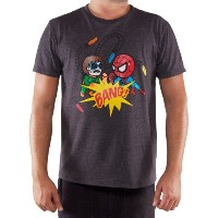 トキドキ 服 Tシャツ マーベル スパイダーマン Tokidoki Marvel Spider-Man Doc Ock Mens T-shirt (Medium, Grey)