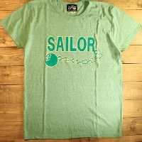 "DRESS HIPPY""SAILOR"" TEEHEATHER GREEN【DRESS HIPPY】(ドレスヒッピー)正規取扱店(Official Dealer)Cannon Ball(キャノンボール..."