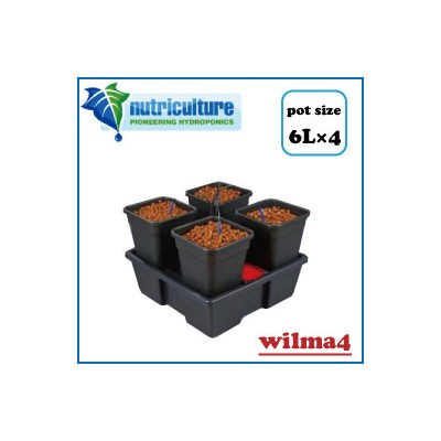 LEDも使える 水耕栽培 キット New nutriculture wilma 4 ポット容量6Lで最大4株まで栽培可能なLED 水耕栽培 キット Hydro Systems