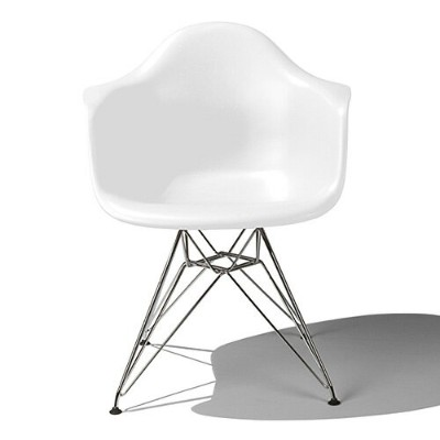 Eames Shell Chair イームズ チェア Arm Chair(DAR) /ホワイト.