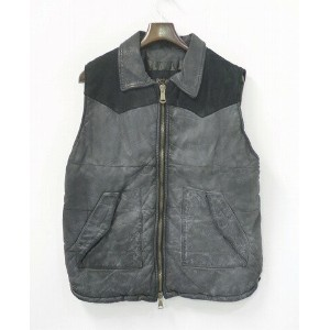 【新品同様】GIORGIO BRATO(ジョルジオ ブラット) 2010AW LEATHER VEST 48 レザーベスト
