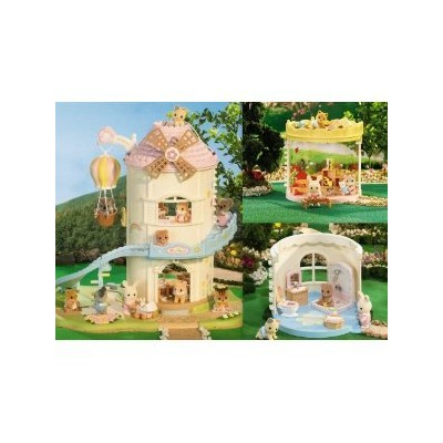 Calico Critters Windmill Baby Playhouse Playroom Bathroom 3 Sets