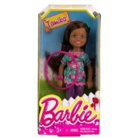"""Tamika w/ Hola Hoop: Barbie(バービー) Chelsea & Friends Summer Dreamhouse Collection ~5.5"""" Doll Fi"""