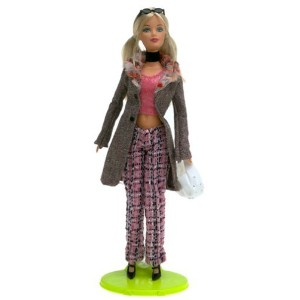 Barbie バービー: Fashion Fever - Barbie バービー in Pink Tweed Pants and Pink Top 人形 ドール