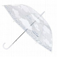 1,000円OFFクーポン配布中 ビニール傘 HAPPY CLEAR UMBRELLA CLOUD