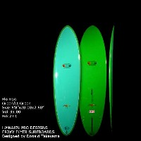 "サーフボード ドナルド・タカヤマ HAWAIIAN PRO DESIGNS Flo Egg 6'8"" Green Lt. Green (AHE0177)ファンボード Designed by..."