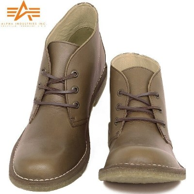20%OFFクーポン対象◆ALPHA INDUSTRIES アルファインダストリーズ AF1950 DESERT BOOTS デザートブーツ BROWN ALPHA INDUSTRIES/正規品/...
