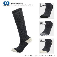 COCOON CLUB〔ソックス〕 Oblique & Stress Free Socks CO-39/チャコール