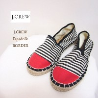 SPECIAL PRICE♪【SALE】【J.CREW】ジェイクルー エスパドリーユ/RED×ボーダー【あす楽対応】