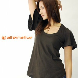 AlternativeApparel (オルタネイティブ アパレル) WOMEN'S FLUTTER TEE THE DEBBIE【お一人様1点限り】【返品交換不可】