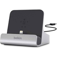 BELKIN iPad / iPad mini / iPhone / iPod対応[Lightning] ドックスタンド (コード長・シルバー) F8J088bt