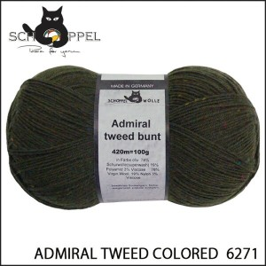 SCHOPPEL 靴下用毛糸 ADMIRAL TWEED COLORED 6271
