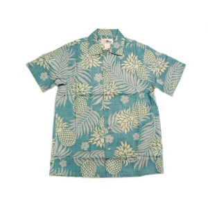 REYN SPOONER(レインスプーナー)GOLD LABEL/RAYON HAWAIIAN SHIRTS/LEI LEHUA/green