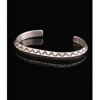 Native American Jewelry(ネイティブ アメリカン ジュエリー) / 1930~1940's HAND STAMPED NAVAJO BANGLE INGOT (バングル...
