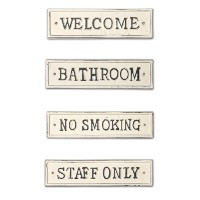 サインプレート WELCOME  BATHROOM  NO SMOKING  STAFF ONLY  po-63042-63045
