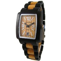 テンス 時計 メンズ 腕時計 木製 Tense Mens Two Tone Hypoallergenic Watch Walnut - Maple J8102WM (Light Face)
