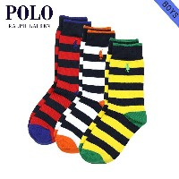 【20%OFFセール 3/16 10:00~3/19 9:59】 ポロ ラルフローレン キッズ POLO RALPH LAUREN CHILDREN 正規品 子供服 ボーイズ 靴下 STRIPED...