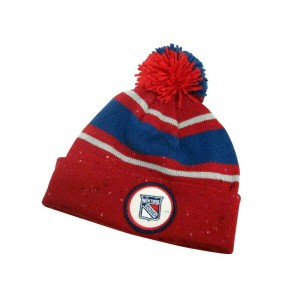MITCHELL&NESS SPECKLED CUFFED POM KNIT CAP (NHL/New York Rangers: Red×Blue)ミッチェル&ネス/ニットキャップ/赤×青