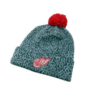 MITCHELL&NESS CRACK PATTERN GREY KNIT CAP (NHL/Detroit Red Wings: Gray×Red)ミッチェル&ネス/ニットキャップ/グレー×赤