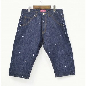 【新品】FLIP THE SCRIPT(フリップザスクリプト) 3/4 DENIM PANTS INDIGO L デニムパンツ 7分丈