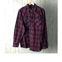 CANYONGUIDE SIZE L (L) チェック シャツ 長袖 古着 レッド メンズ 【中古】