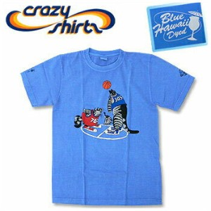 Crazy Shirts(クレイジーシャツ) S/S Tee @BLUE HAWAII DYED[2004115] Basketball Cats クリバンキャット 半袖 Tシャツ HAWAII...