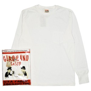 GLADHAND-25 STANDARD HENRY POCKET L/S T-SHIRTS /WHITE/パックT/スタンダード/クルーネック/ポケット/長袖/Tシャツ【GANGSTERVILLE...
