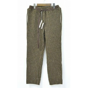 【新品】 ELATE (イレイト) Knit Climbing Pants (Herringbone) ニットウールイージーパンツ BROWN×KHAKI 1