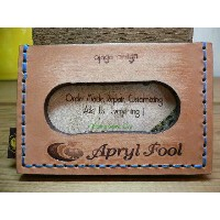 APRYL FOOL(エイプリールフール)xOJAGA DESIGN/CARD CASE BROWNxNAVY