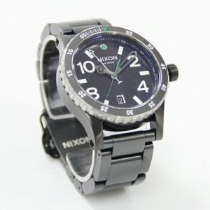 NIXON THE DIPLOMAT SS Black/Silver/Green ニクソン 腕時計