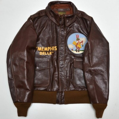 "BUZZ RICKSON'S バズリクソンズ BR80369-01 A-2 No.23380 ROUGHWEAR CLOTHING CO. ""324th BOMB.SQ.""MEMPHIS BELLE"""
