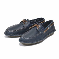 【SPERRY TOPSIDER】 スペリートップサイダー デッキシューズ HUNTINGTON 2-EYE LEATHER ハンティントン 2アイレット レザー STS12225 NAVY