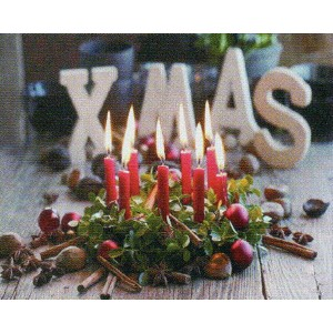 LED Picture Light CollectionXMAS red Candle S