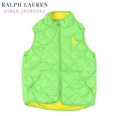 POLO by Ralph Lauren Girls Quilted Down Vest USラルフローレン ガールズ用 ダウンベスト