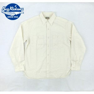 No.BR25996 BUZZ RICKSON'S バズリクソンズWHITE CHAMBRAY WORK SHIRT
