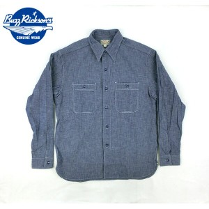 No.BR25995 BUZZ RICKSON'S バズリクソンズBLUE CHAMBRAY WORK SHIRT