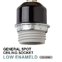 ソケット シーリング 低温琺瑯 LED対応 E26 GENERAL SPOT CEILING SOCKET E26 LOW ENAMELED